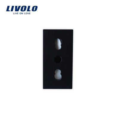 Modul priza simpla ingusta LIVOLO culoare neagra