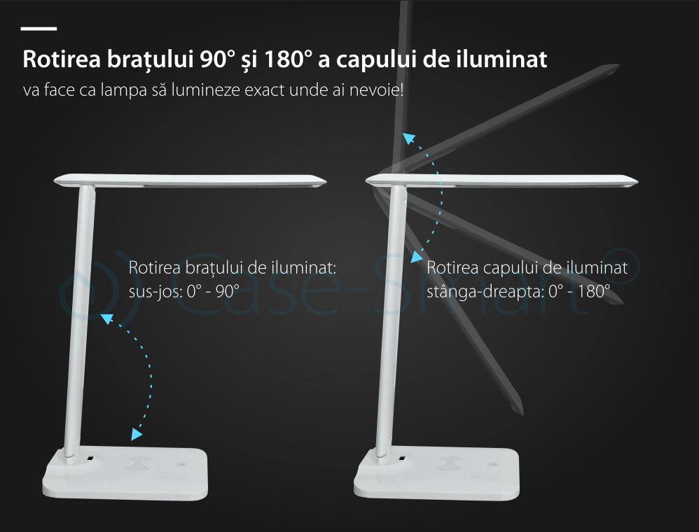 Lampa de birou cu incarcare wireless QI pentru telefonul mobil – RS-LTL-T1-1