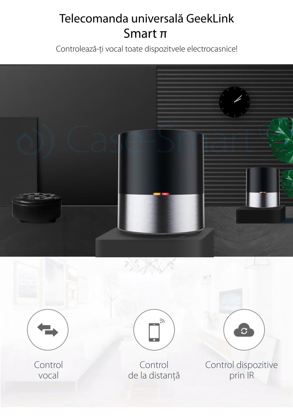 Telecomanda inteligenta WIFI + IR cu control prin aplicatie, Hub Geeklink GK-1