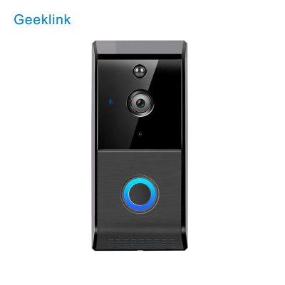 Sonerie smart wireless cu monitorizare video Geeklink L-6, Senzor miscare, Comunicare bidirectionala, Functie inregistrare, Acumulatori inclusi, Notificari in aplicatie, Control de pe telefonul mobil