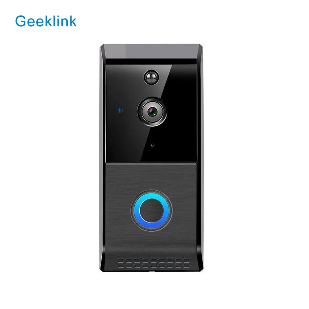 Sonerie smart wireless cu monitorizare video Geeklink L-6, Senzor miscare, Comunicare bidirectionala, Functie inregistrare, Acumulatori inclusi, Notificari in aplicatie, Control de pe telefonul mobil imagine case-smart.ro 2021