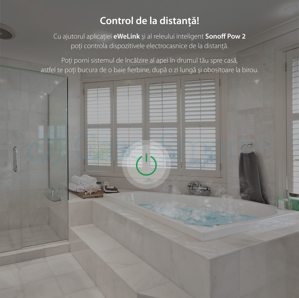 Releu Wi-Fi monitorizare consum electric Sonoff POW R2