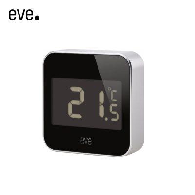 Senzor de temperatura si umiditate Eve Degree compatibil cu Apple Home Kit, rezistent la apa