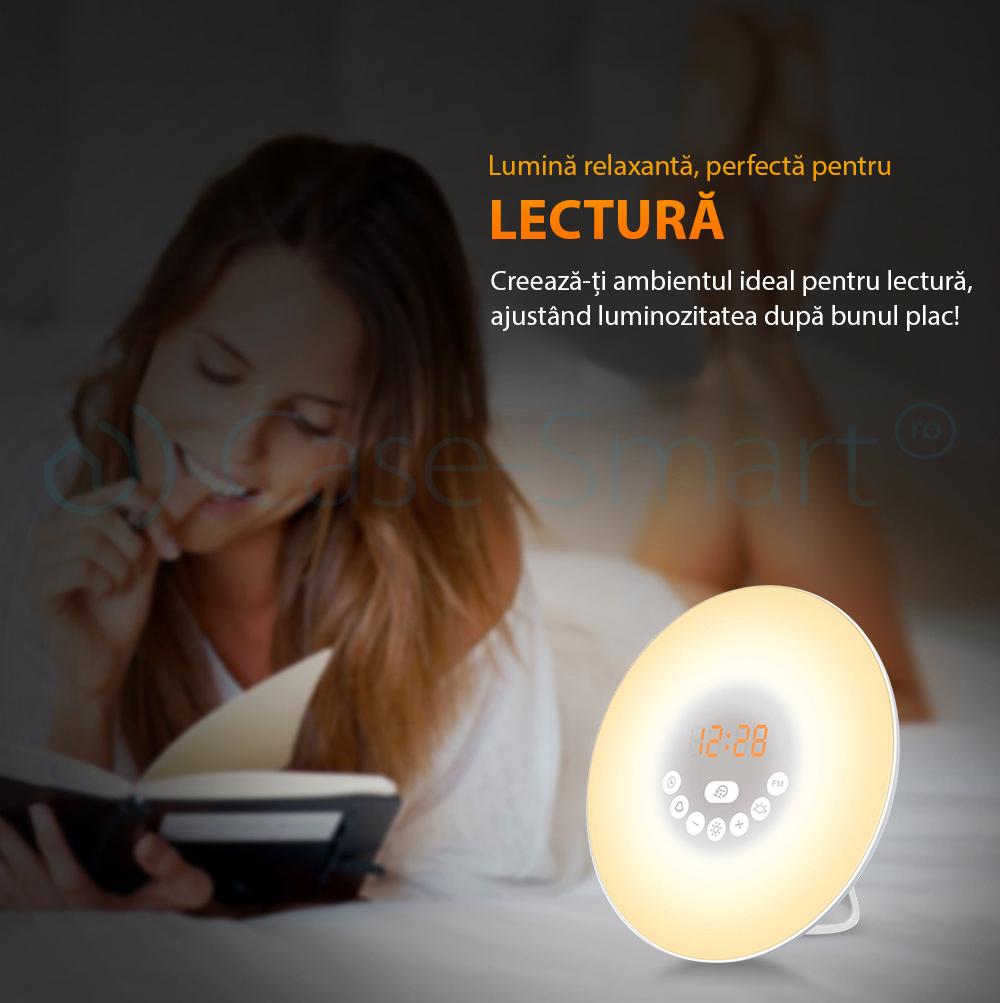 Lampa inteligenta cu alarma si radio FM RedSun – 6638D