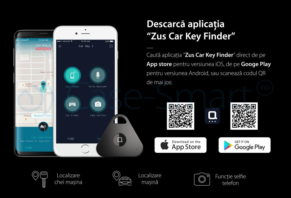 Breloc cu dispozitiv pentru gasire chei Nonda Zus, Localizare chei, Localizare telefon