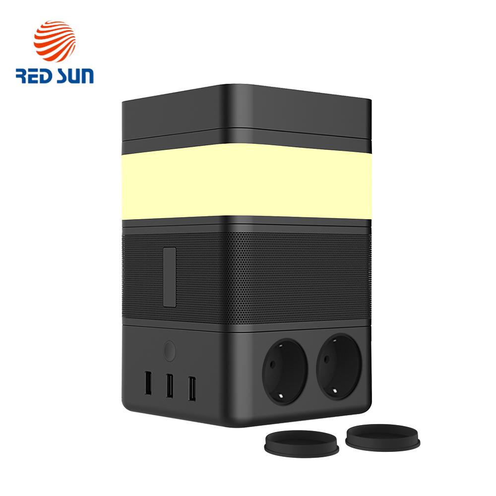 Boxa portabila cu lampa inteligenta Redsun RS-02EU-SP, Functie de baterie externa, Incarcator Wireless, Bluetooth imagine case-smart.ro 2021