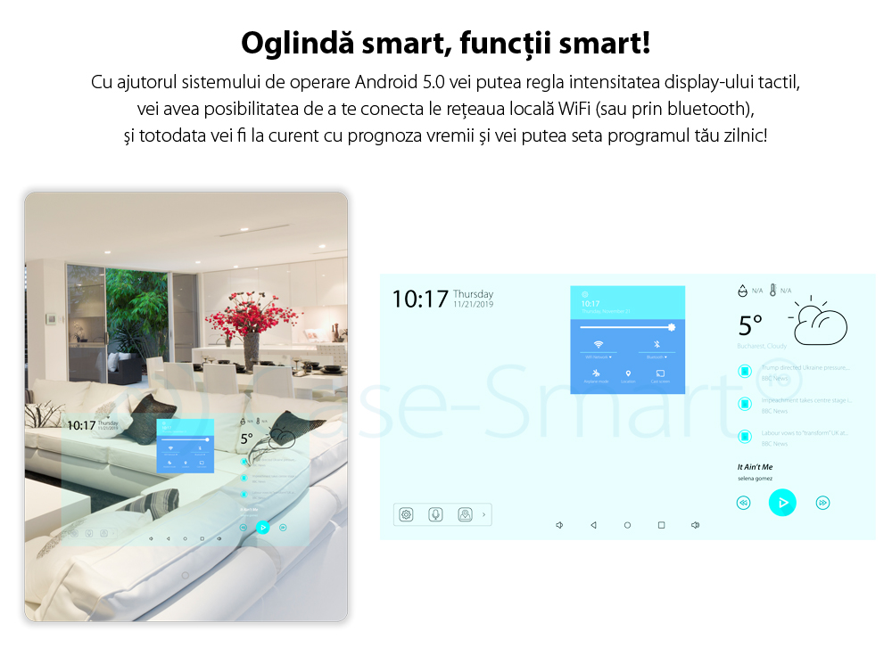 Oglinda inteligenta 21.5″ Orvibo OR-M1, Android