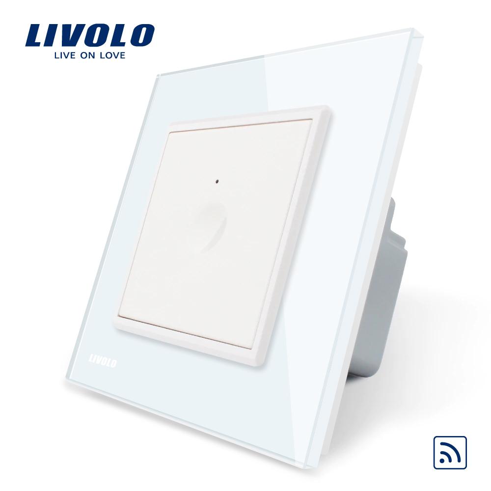 Intrerupator simplu wireless cu touch Livolo din sticla, Serie noua imagine case-smart.ro 2021