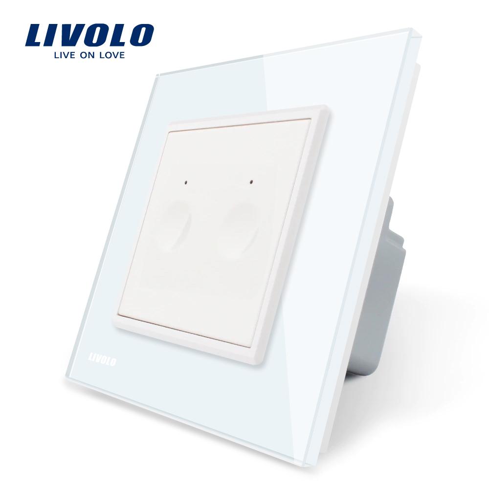 Intrerupator dublu cu touch Livolo din sticla, Serie noua imagine case-smart.ro 2021