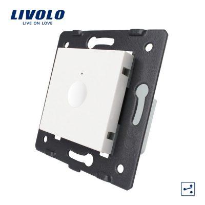 Modul intrerupator simplu cap scara / cap cruce cu touch LIVOLO, Serie noua