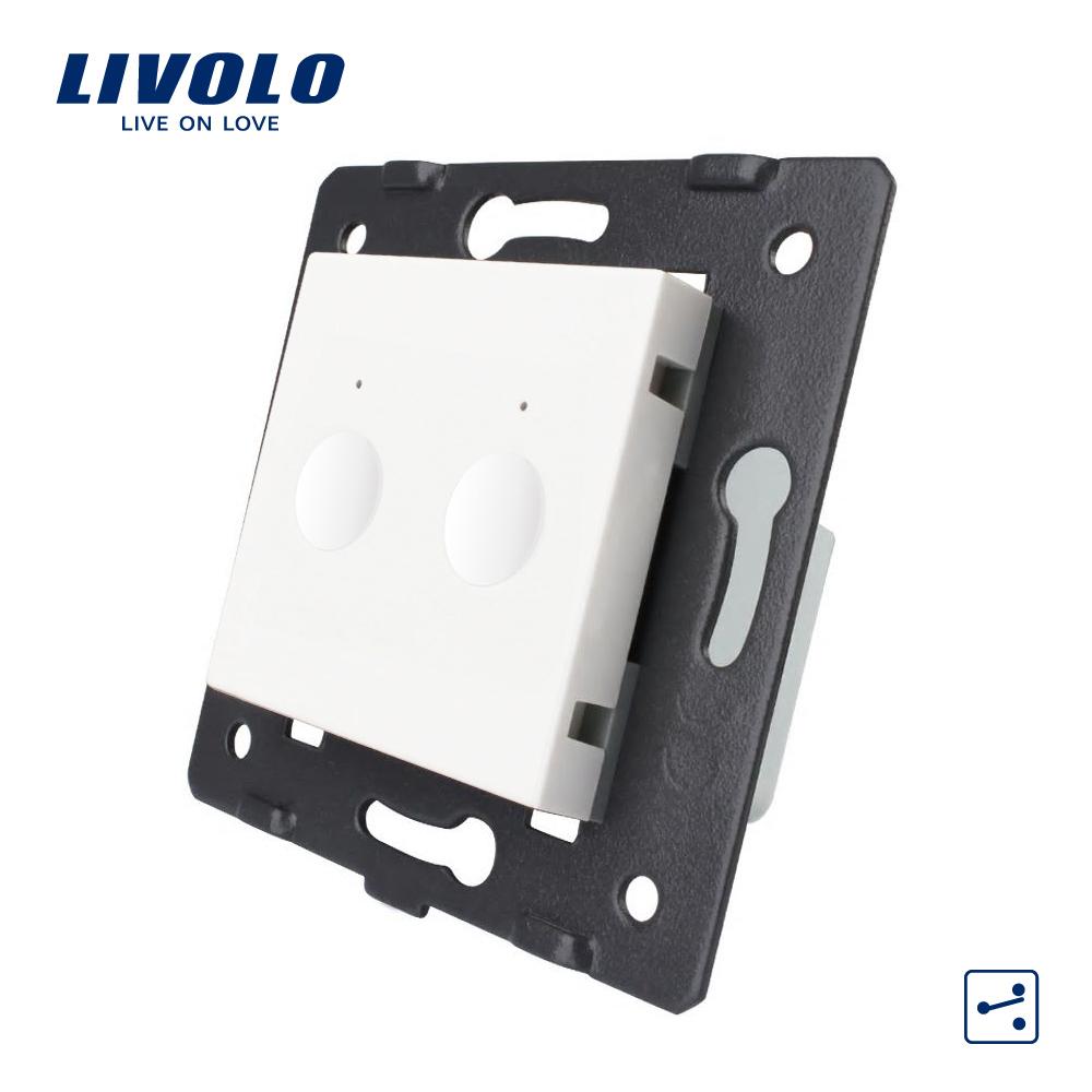 Modul intrerupator dublu cap scara / cruce cu touch LIVOLO, Serie noua imagine case-smart.ro 2021