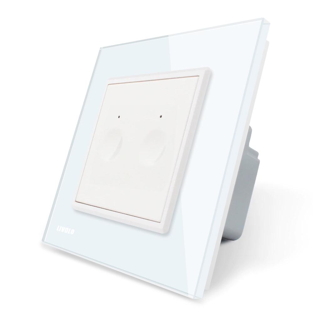 Intrerupator dublu wireless cu touch Livolo din sticla, Serie noua imagine case-smart.ro 2021