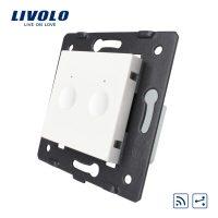 Modul intrerupator dublu cap scara / cruce wireless cu touch LIVOLO, Serie noua