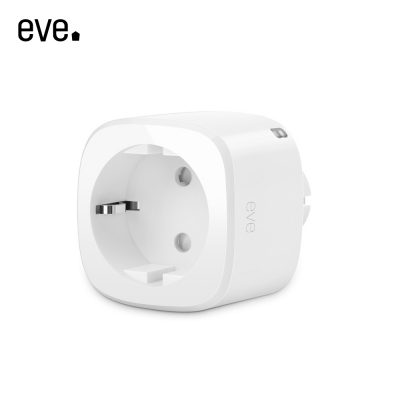 Priza inteligenta Eve Energy EU compatibil Apple HomeKit, Wireless, Monitorizare consum energie, Control de pe telefonul mobil