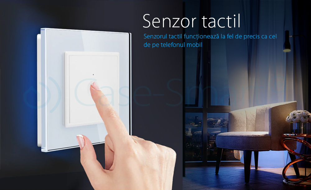Intrerupator simplu cu touch Livolo din sticla, Serie noua