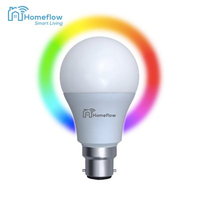 Bec inteligent LED Wireless Homeflow B-5006, B22, 9W (60W), 806lm, RGB, dimabil, Control de pe telefonul mobil
