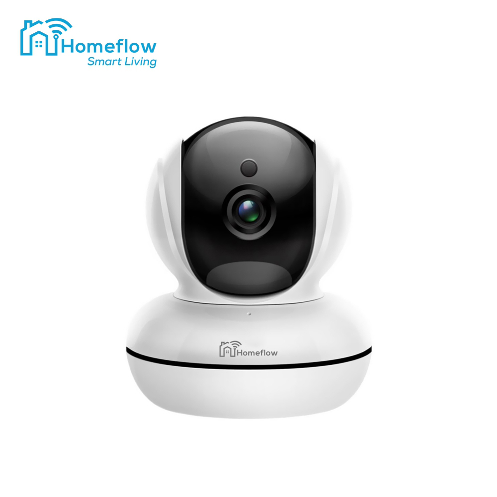 Camera de supraveghere wireless rotativa Homeflow C-6001, Comunicare bidirectionala, Detectie miscare, Inregistrare, Control de pe telefonul mobil imagine case-smart.ro 2021
