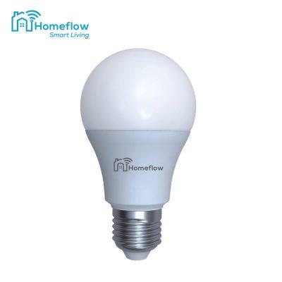 Bec inteligent LED Wireless Homeflow B-5010, E27, 9W (25W), 806lm, dimabil, lumina calda/ rece, Control de pe telefonul mobil
