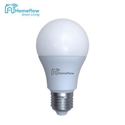 Bec inteligent LED Wireless Homeflow B-5011, E27, 9W (60W), 806lm, RGB, dimabil, Control de pe telefonul mobil