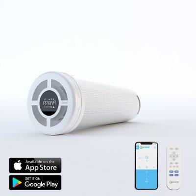Sistem de ventilatie cu recuperare de caldura PRANA 200C PREMIUM PLUS cu Functie Preincalzire