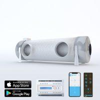 Sistem de ventilatie cu recuperare de caldura PRANA 340S+