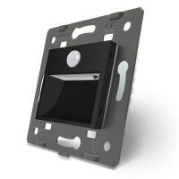 Lampa de veghe LED Livolo cu senzor miscare incorporat culoare neagra