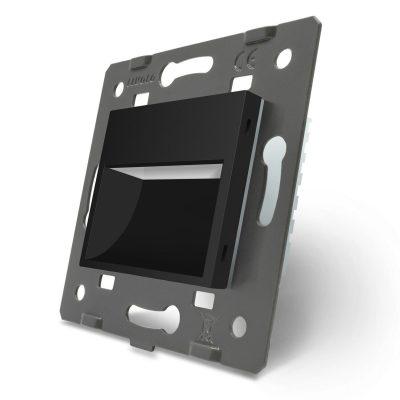 Lampa de veghe LED Livolo fara senzor de miscare culoare neagra