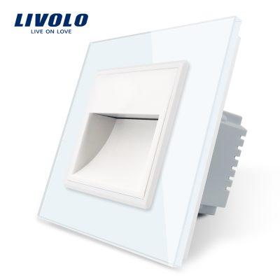 Lampa de veghe LED Livolo cu rama din sticla