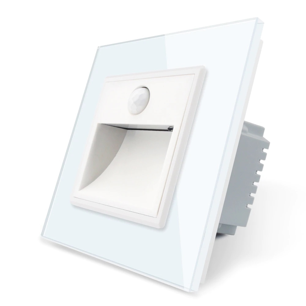 Lampa de veghe LED Livolo cu rama din sticla, Senzor miscare incorporat imagine case-smart.ro 2021