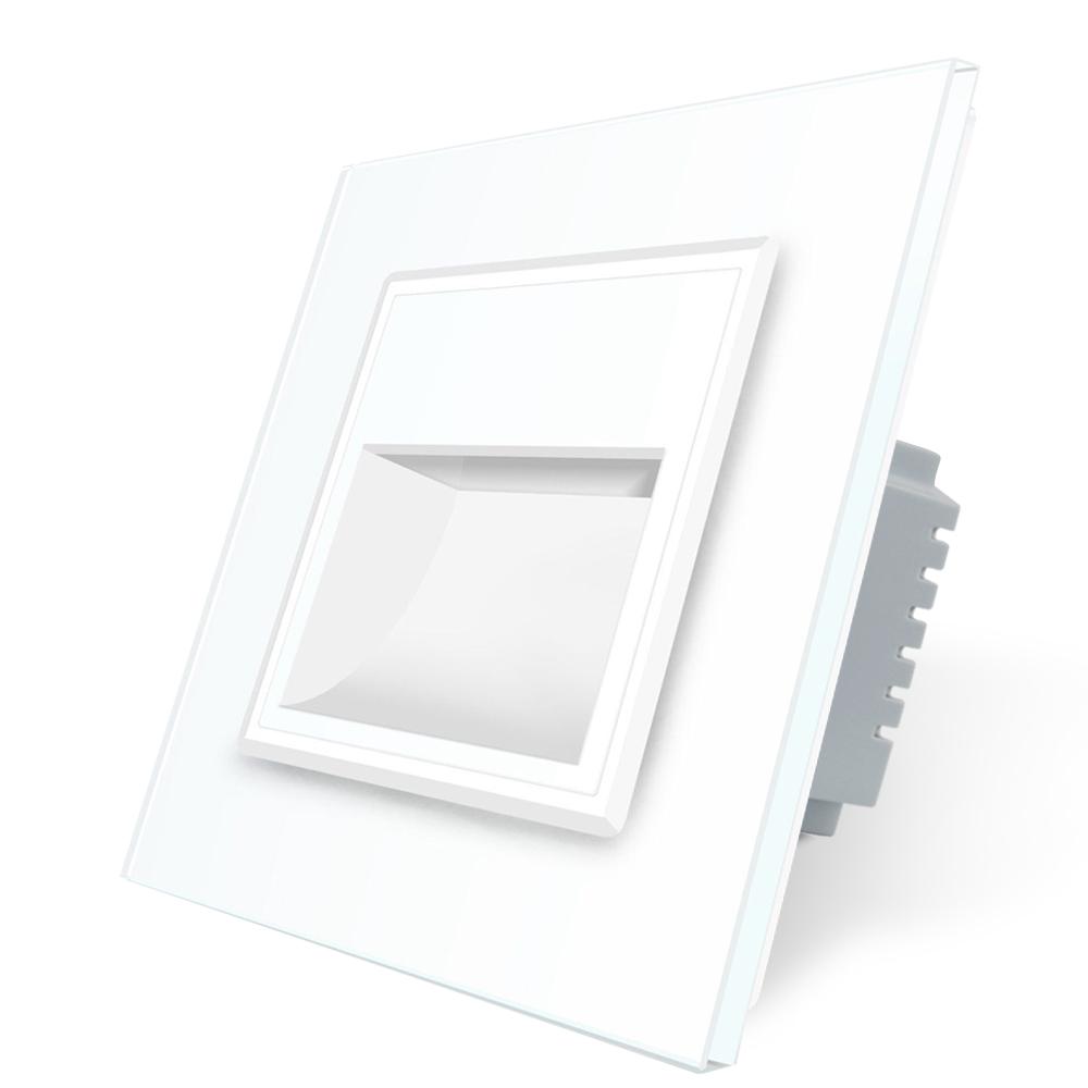 Lampa de veghe LED Livolo cu rama din sticla imagine case-smart.ro 2021
