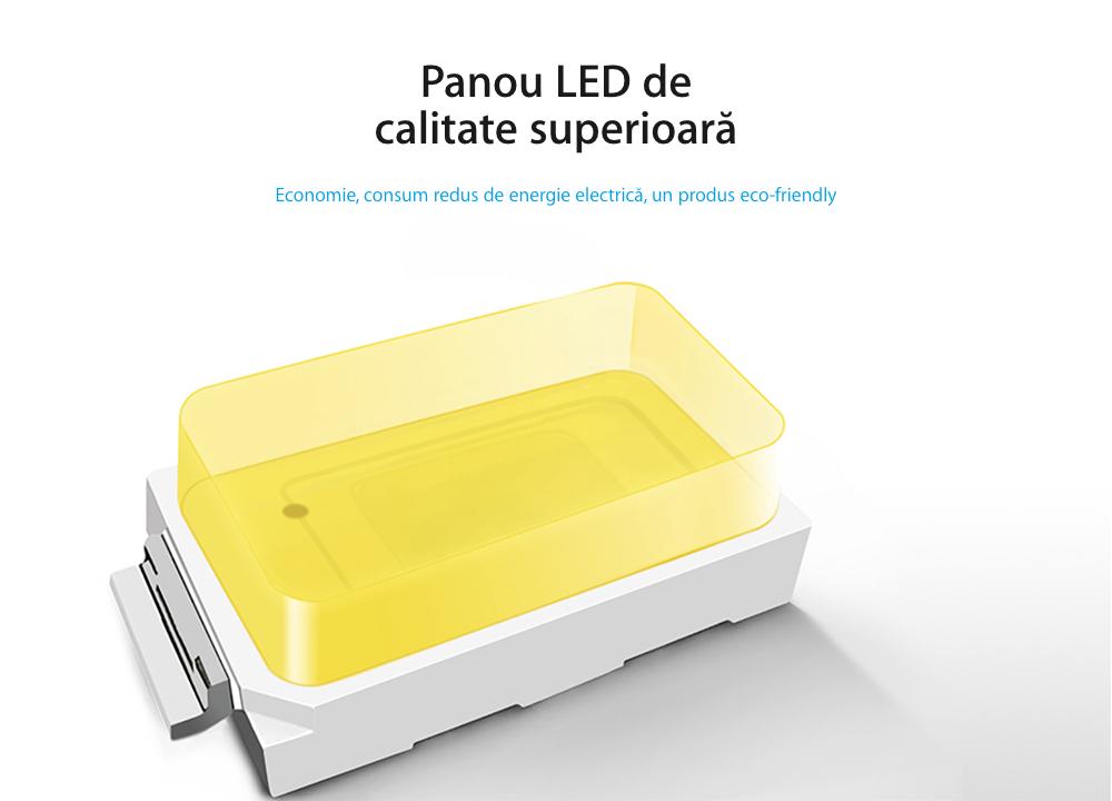 Lampa de veghe LED Livolo cu rama din sticla, Senzor miscare incorporat