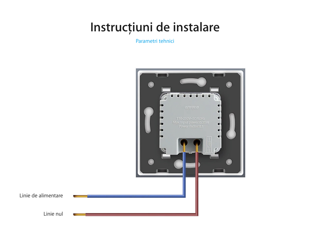 Lampa de veghe LED Livolo fara senzor de miscare