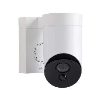 Camera de supraveghere de exterior Somfy, Wifi, 1080p Full HD, Sirena 110 dB, Posibila conexiune la corpul de iluminat existent – Alb