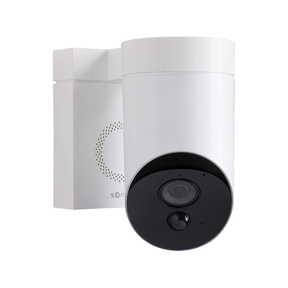 Camera de supraveghere de exterior Somfy, Wifi, 1080p Full HD, Sirena 110 dB, Posibila conexiune la corpul de iluminat existent – Alb imagine case-smart.ro 2021