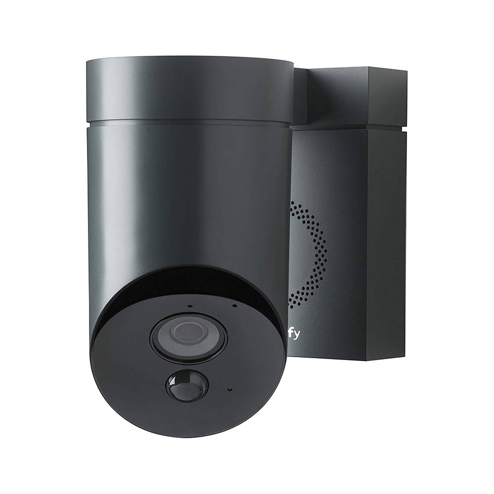 Camera de supraveghere de exterior Somfy, Wifi, 1080p Full HD, Sirena 110 dB, Posibila conexiune la corpul de iluminat existent – Gri imagine case-smart.ro 2021
