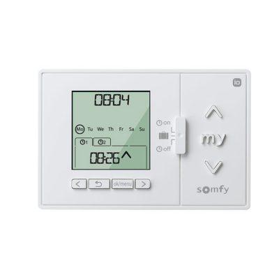Ceas programabil Somfy Chronis IO, Alb, Smart, Wi-Fi, 5 Sloturi