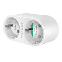 Priza dubla BlitzWolf BW-SHP7, Alb, Wi-Fi, Smart, 3680W, 16A, Monitorizare consum, Compatibil cu Alexa, Google Home & IFTTT