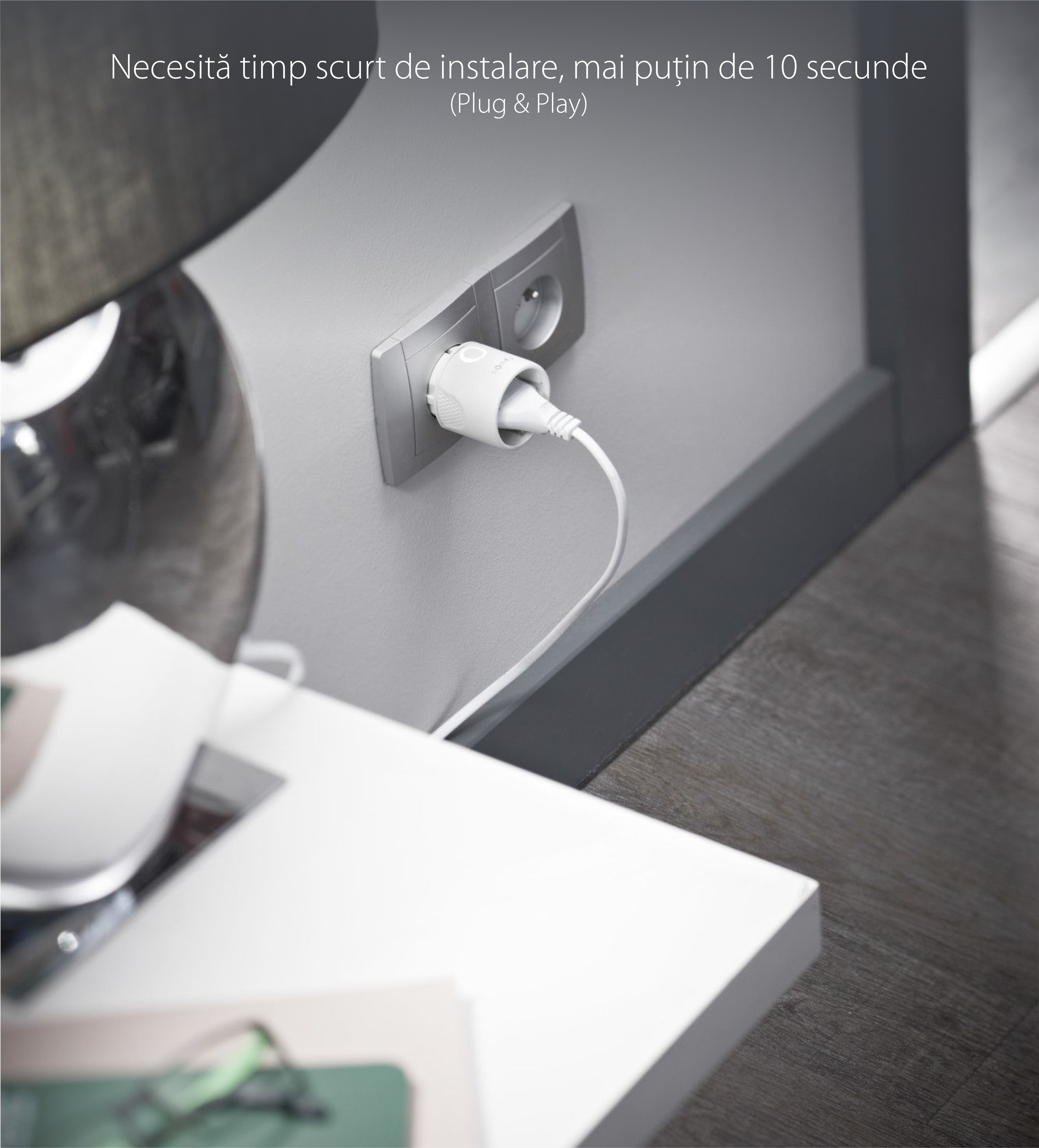 Priza inteligenta Somfy IO 230V, Plug & Play, Tip F, Compatibil cu TaHoma, Connexoon io, a Telecomenzilor  si Videointerfoanelor io-homecontrol