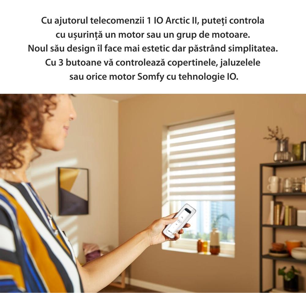 Telecomanda Situo 1 io Arctic II EE, Buton rotativ, Functie auto / manual, Compatibil cu io-homecontrol