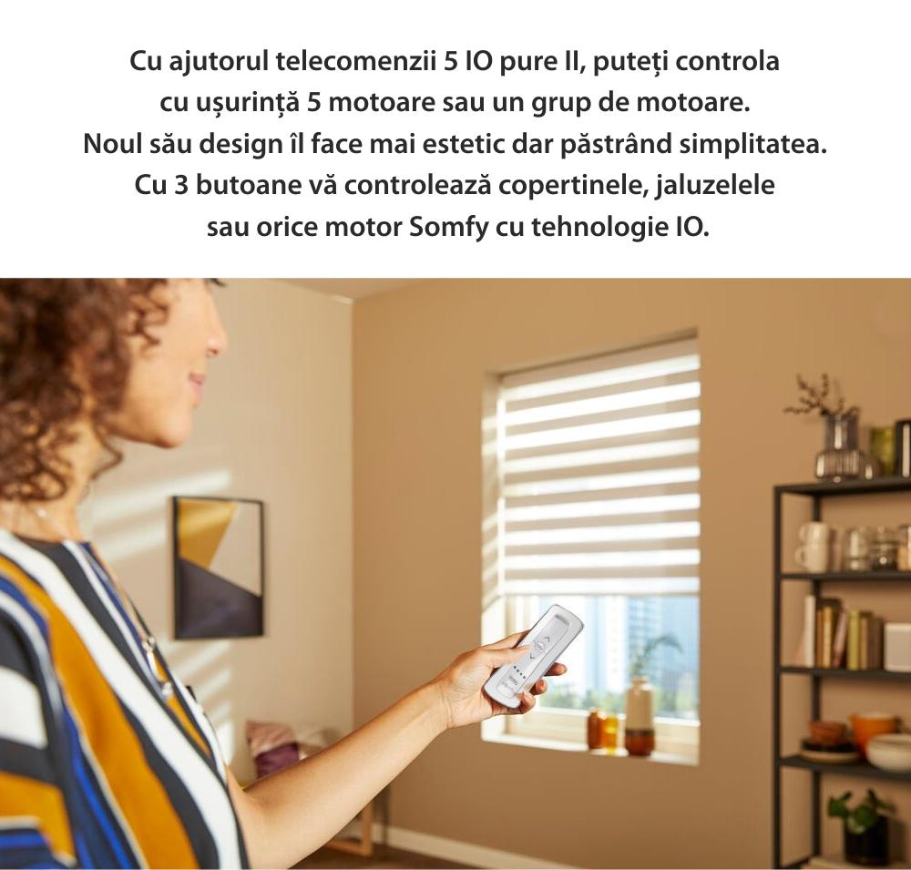 Telecomanda Situo 5 io Pure II EE, Buton rotativ, Functie auto / manual, Compatibil cu io-homecontrol