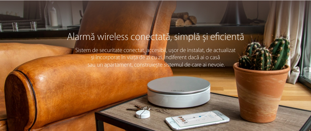 Sirena de interior Somfy, 110 dB, Compatibil cu Somfy One, One+, Somfy Home Alarm