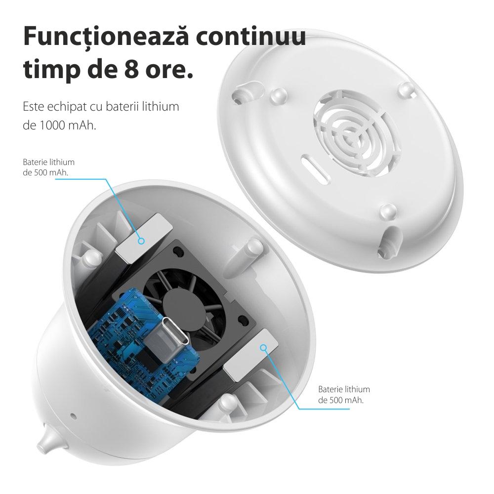 Repelent portabil Baseus ACMWD-LF02, DC, 5V, respingator de insecte