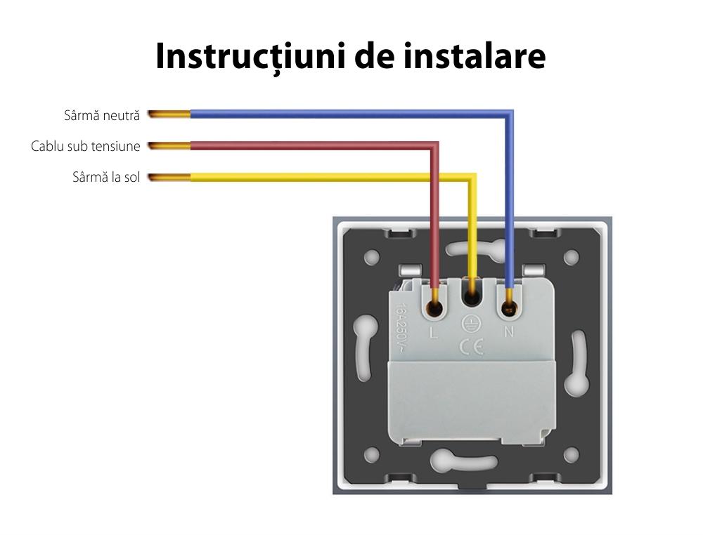 Priza inteligenta pentru perete Livolo ZigBee, Fara rama, 16V, Wi-Fi, Compatibil cu Alexa si Google Home