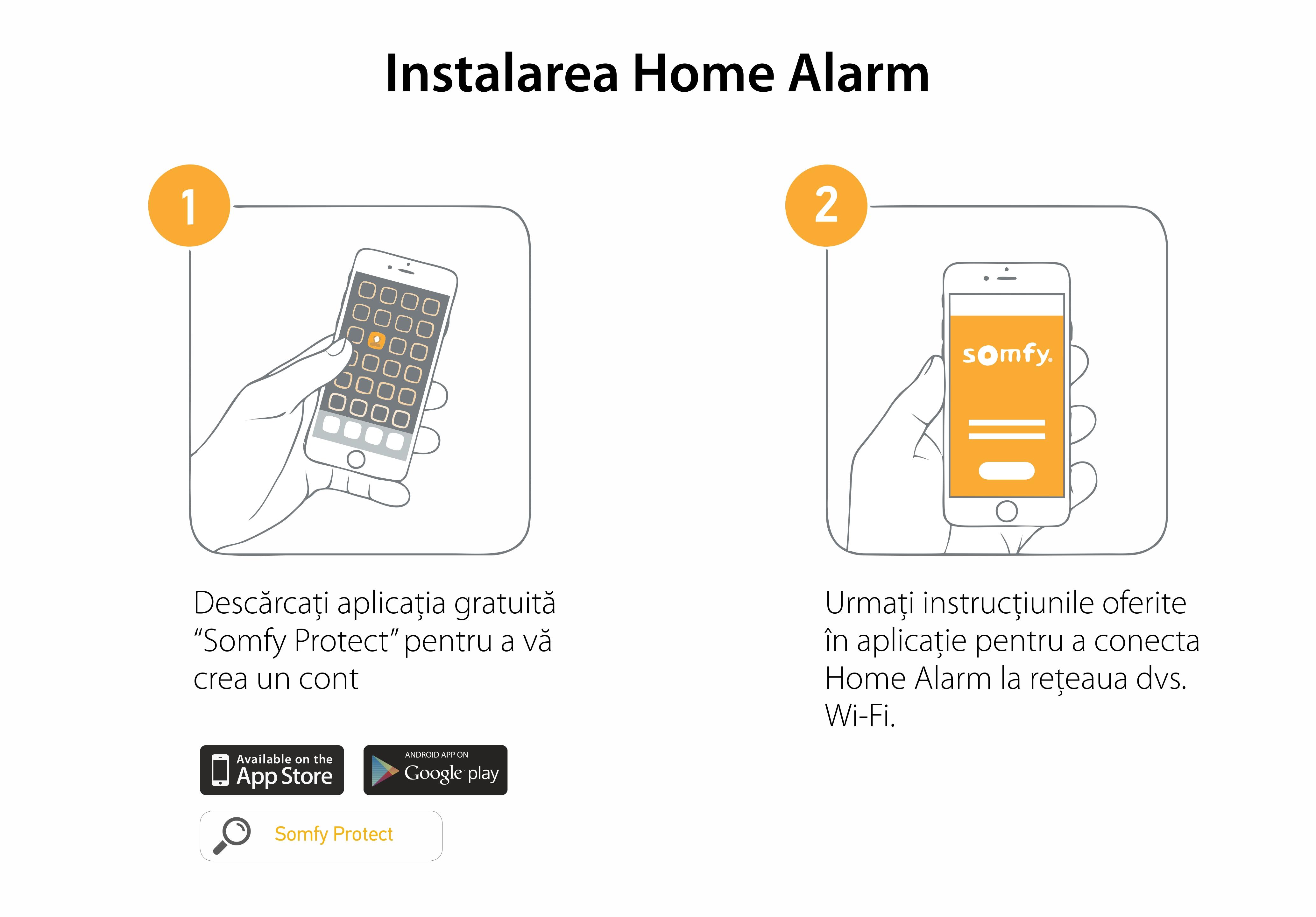 Pachet Somfy Home Alarm, Sirena de interior, Brelocuri si INTELLITAG™