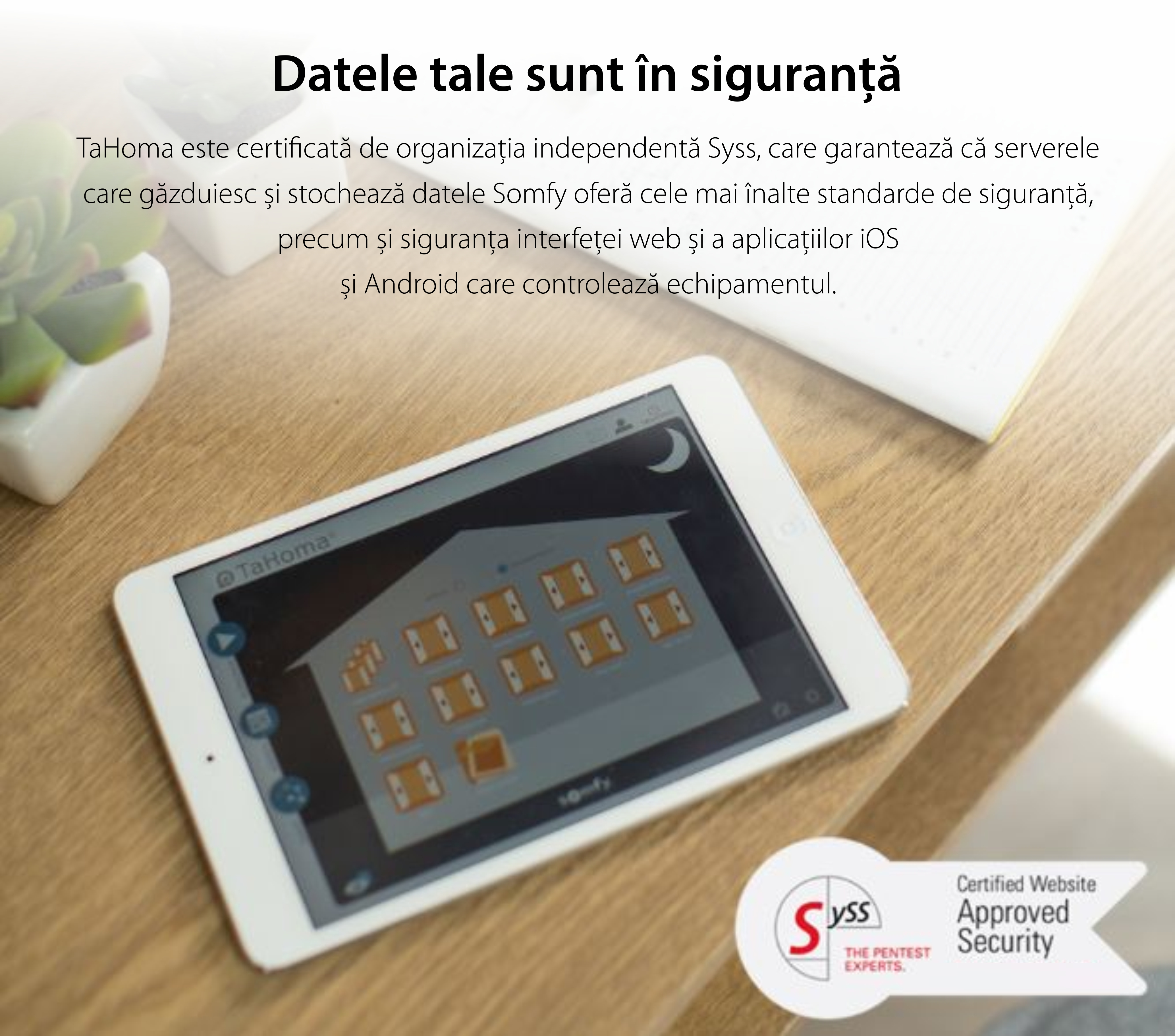 Unitate de comanda Somfy TaHoma DIY pentru controlul intregii locuinte, Compatibil cu Alexa, Google Home