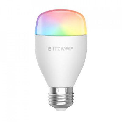 Bec inteligent Blitzwolf BW-LT27, Wi-Fi, Smart, Bulb E27, 9W, Comanda vocala, 850 LM, RGB