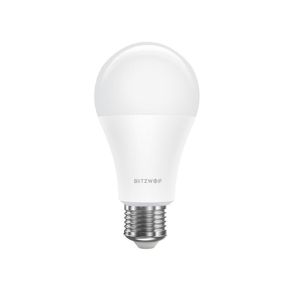 Bec Smart LED RGB, BlitzWolf BW-LT21, 10 W, Bulb, 900 LM, 3000K, E27, Comanda vocala imagine case-smart.ro 2021