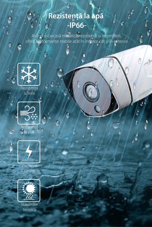 Camera de supraveghere Besnt BS-IP73GP, HD, Vedere nocturna, Rezistenta la apa, Monitorizare 24h