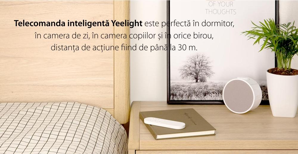 Telcomanda inteligenta Yeelight YLYK01YL, Alb, Pana la 1800 lumeni, Bluetooth