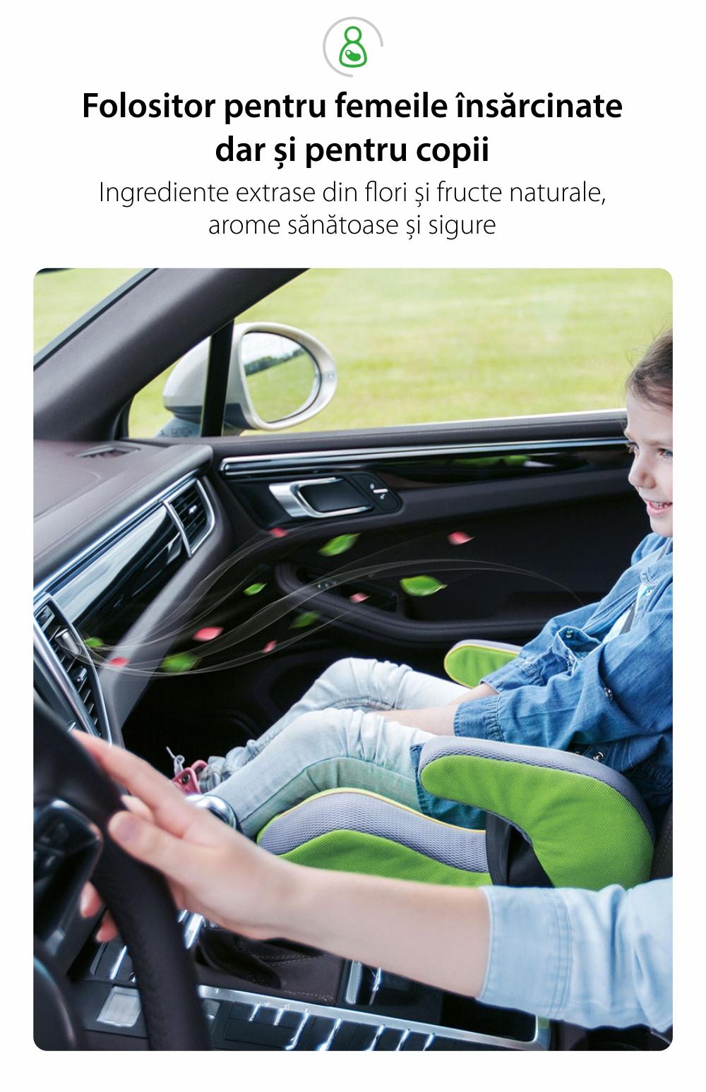 Odorizant Auto Baseus Little Fatty Mini, SUXUN-PDA03, Albastru, 5 Pastile parfumate